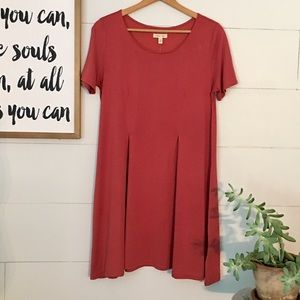 Silence and Noise Soft Red Tunic